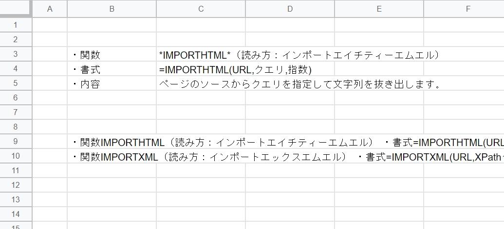 IMPORTHTML